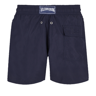 Men Classic Embroidered - Men Swimtrunks Placed embroidery The Year Of The Rat, Navy back