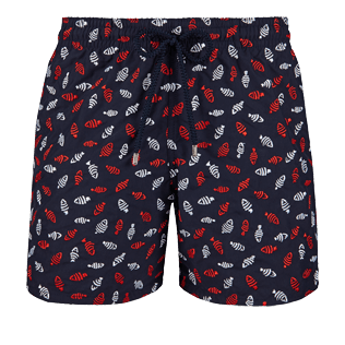 Men Embroidered Embroidered - Men Swimtrunks Embroidered Mini Fish - Limited Edition, Navy front