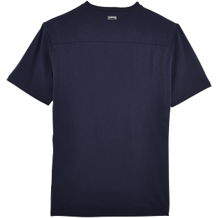 Men Tee-Shirts Solid - Pima Cotton Solid Round neck T-Shirt, Navy back