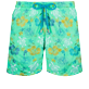 Men Classic Embroidered - Men Swimwear Embroidered Tropical turtles - Limited Edition, Cardamom front