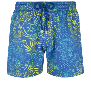Hombre Clásico stretch Estampado - Men Stretch Swimwear Evening Birds, Batik azul front