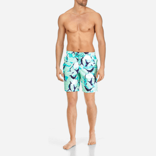 Homme CLASSIQUE LONG Imprimé - Maillot de bain Stretch Homme Magic Whales, Lagon frontworn
