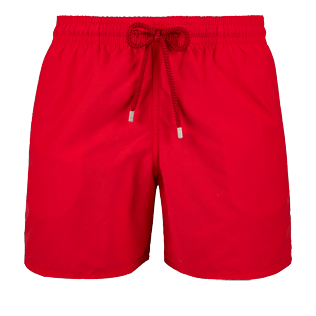 Men Classic Solid - Men Swimwear Solid, Red polish front
