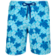 Men Long classic Printed - Men Swim Trunks Long Stretch Tortues Hawaï - Web Exclusive, Celestial front