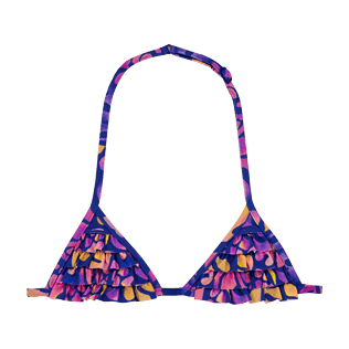 Girls Others Printed - Girls Bikini Top Triangle 19.8 Phuket, Sea blue front