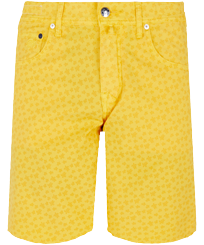 Men Others Printed - Men Cotton Bermuda Shorts Micro Ronde Des tortues, Curry front
