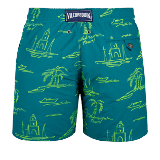 Men Embroidered Embroidered - Men Embroidered swimtrunks St Tropez - Limited Edition, Pine wood back