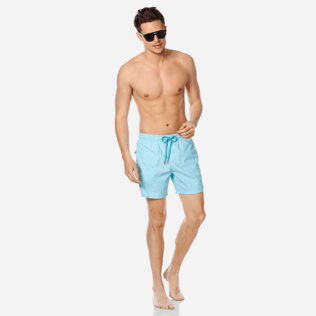 Men Classic Solid - Men swimtrunks Solid, Acqua supp2