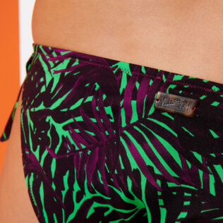 Women Classic brief Printed - Women Bikini Bottom Brief to be tied Madrague, Grass green supp4