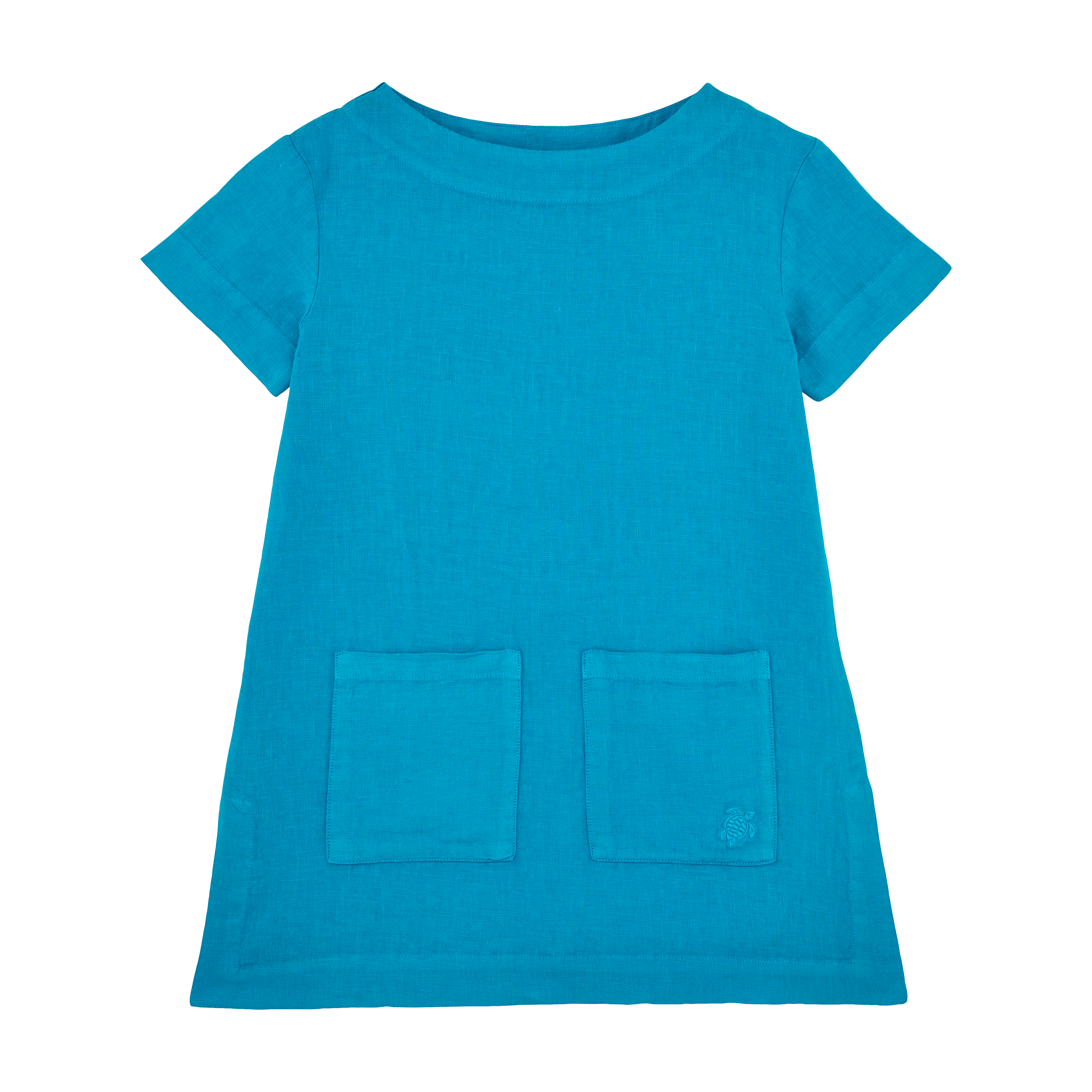 VILEBREQUIN | Girls Ready to Wear - Girls Linen Dress Solid - DRESS - GELATINE - Blue - 14 - Vilebrequin | Goxip