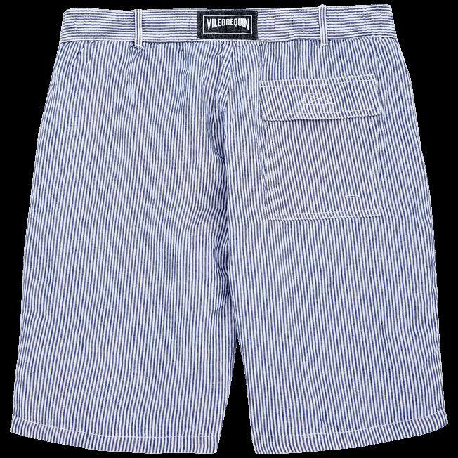 Vilebrequin - Bermudas rectas con estampado Micro Stripes - 2