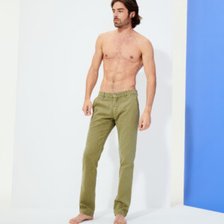 男款 Others 纯色 - Men Chino Pants, Fern frontworn