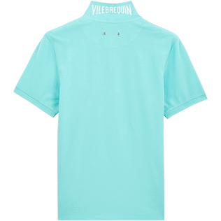 Men Others Solid - Men Cotton pique Polo Shirt Solid, Lagoon back