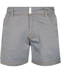 Herren Flat belts Uni - Badeshorts aus Denim mit flachem Bund, Light denim w3 front