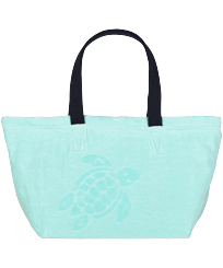 Others Solid - Big terry cloth Beach Bag Jacquard Solid, Lagoon front