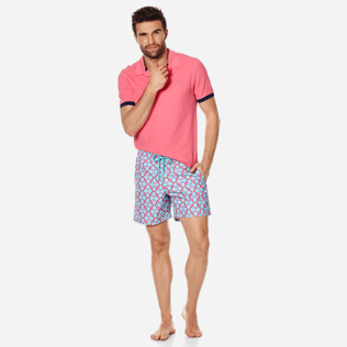 Men Classic Printed - Men Swim Trunks Data Turtles, Cherry blossom supp2