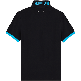 Men Others Solid - Men Cotton Polo Shirt Solid, Black back