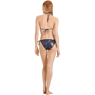 Women Classic brief Printed - Women Brief to be tied Bikini Bottom Moonlight, Irisdescent backworn