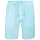 Men Others Solid - Men Italian Pockets Linen Bermuda Shorts Solid, Lagoon front