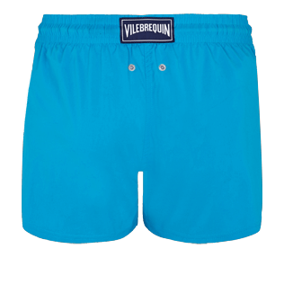 Men Short classic Solid - Men Swim Trunks Short and Fitted Stretch Solid, Hawaii blue back