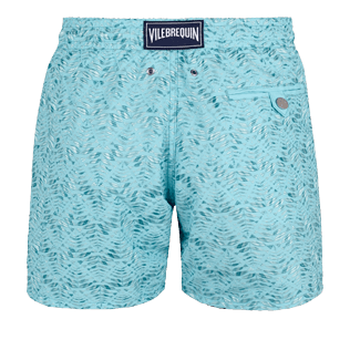 Men Classic Embroidered - Men Swimwear Embroidered Perspective Fish - Limited edition, Lagoon back