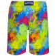 Hombre Clásico largon Estampado - Men Swimwear Long Holi Party, Batik azul back