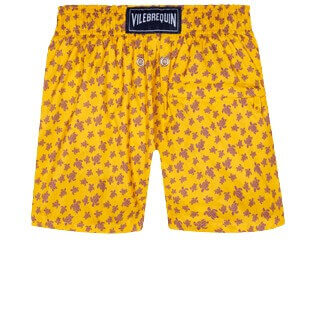 Boys Others Printed - Boys Ultra-light and packable Swim Trunks Micro Ronde des Tortues, Curry back