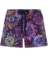 Women Others Printed - Women Swim Short Fireworks, Navy front