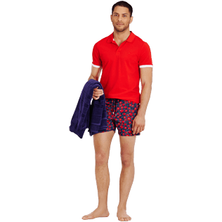 Men Stretch classic Printed - Men Swimtrunks Stretch Crackers, Navy supp2