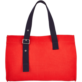 Bags Solid - Large Solid Beach Bag, Poppy red back
