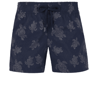 Girls Others Printed - Girls Swim Short Diamond Turtles, Navy front