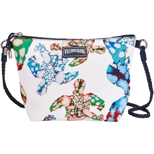 Autros Estampado - Bolsa de playa para llevar al hombro con estampado Watercolor Turtles, Blanco front