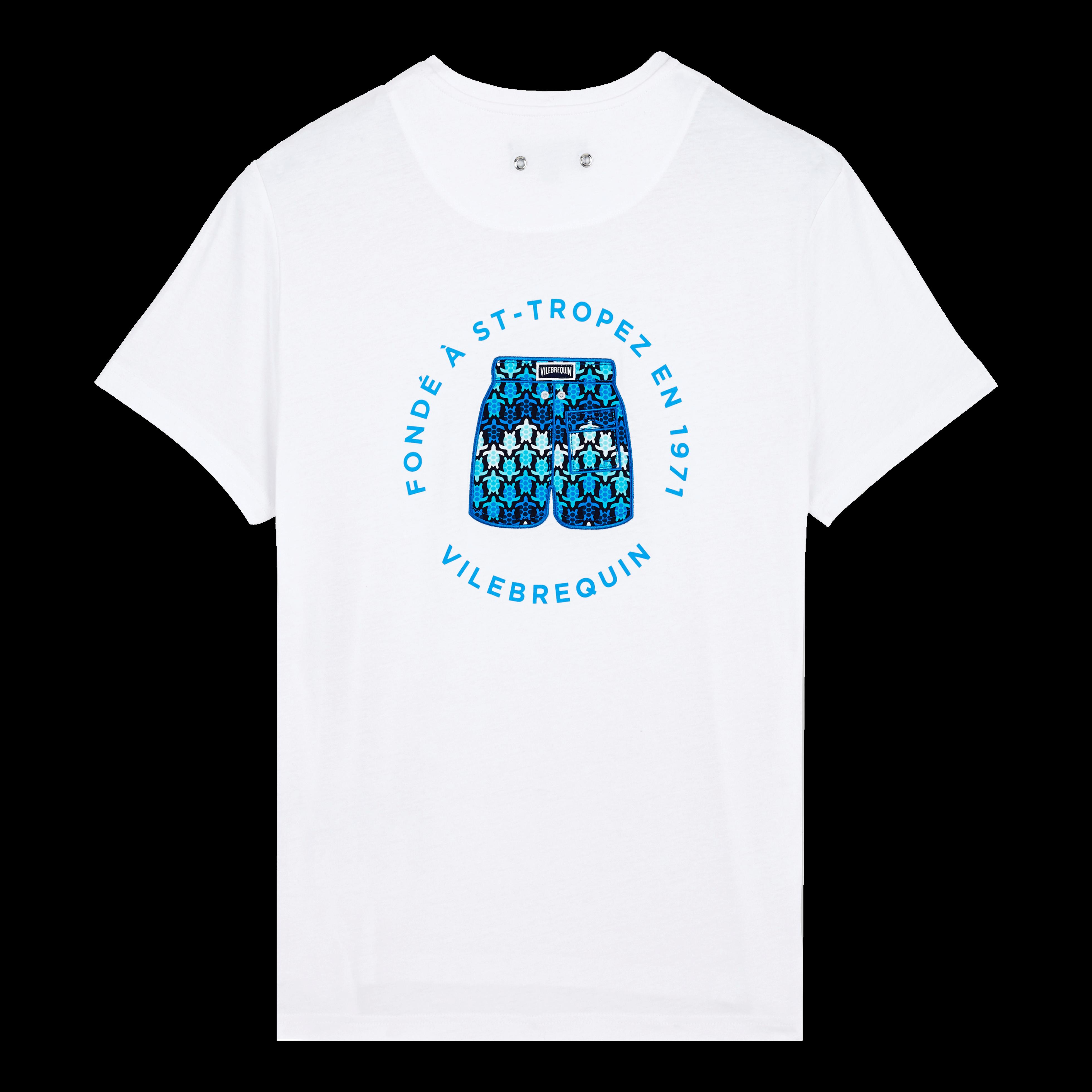 PRET A PORTER HOMME - T-Shirt en Coton Homme Imprimé Fondé à St-Tropez - TEE SHIRT - TAO - Blanc - X