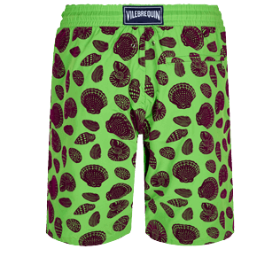 Men Long classic Printed - Men Long Ultra-light and packable Swimwear Shell Game Flocked, Neon green back