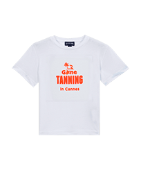 Boys Others Printed - Boys T-shirt Gone Tanning in Cannes, White front
