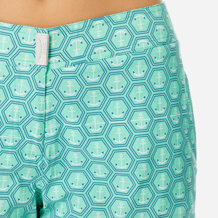 Women Others Printed - Women Stretch swim short Ancre De Chine, Mint supp1
