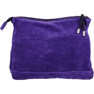 Others Solid - Zipped Beach pouch in Terry Cloth Solid Jacquard, Amethyst back