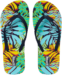 Women Others Printed - Women Flip Flops Jungle, Midnight blue front