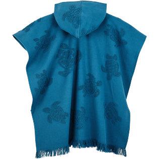 Others Solid - Kids Beach Poncho in Cotton Turtles Jacquard, Spray back