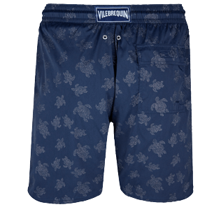 Homme CLASSIQUE LONG Imprimé - Maillot de bain Homme Long Stretch Diamond Turtles, Bleu marine back