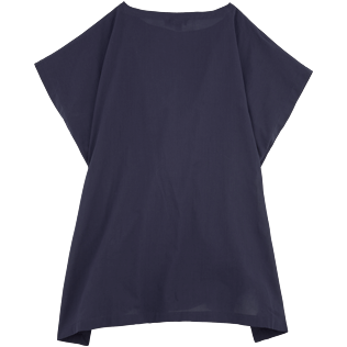 Women Dresses Solid - Solid Cover-up Dress, Navy back