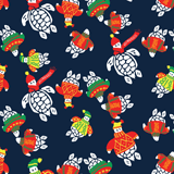 Men Classic / Moorea Printed - Sweater Turtles Swim shorts, Navy pattern
