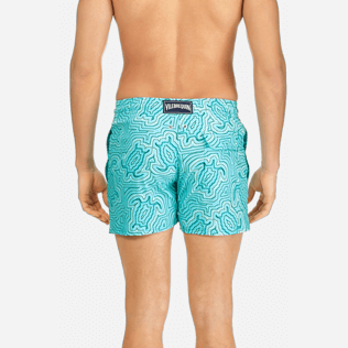 Men Classic / Moorea Printed - Men Stretch Swimwear Hypnotic Turtles, Curacao supp2
