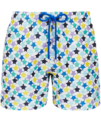 Men 017 Embroidered - Men Swim Trunks Embroidered - Limited Edition, White front