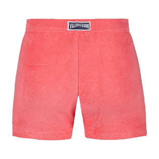 Girls Others Solid - Girls Terry Cloth Shortie Solid, Hibiscus back