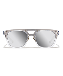 Others Solid - Unisex Sunglasses Silver Mirror, Transparant front