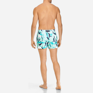 Men Classic / Moorea Printed - Men Stretch Swimtrunks Magic Whales, Lagoon backworn