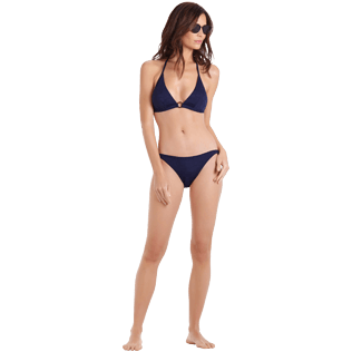 Women Classic brief Solid - Women brief to be tied bikini Bottom Ecailles de tortues, Midnight blue supp2