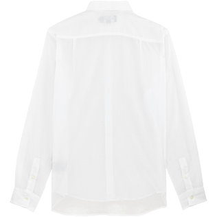 Men Others Solid - Unisex cotton voile Shirt Solid, White back