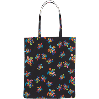 Others Printed - Tote bag Over the rainbow turtles, Black back